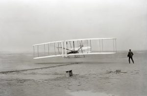 Wright brother's first powered flight