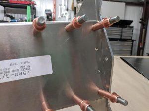 Rudder spar rudder horn fitment